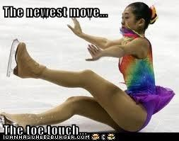 The newest move...  The toe touch...