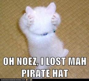 OH NOEZ, I LOST MAH PIRATE HAT