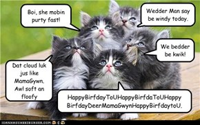 Happy Birthday MamaGywn from the Majik Kittehs!  Gone but never forgotten.
