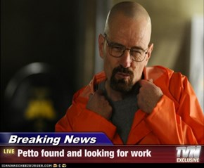 Breaking News - Petto found and looking for work