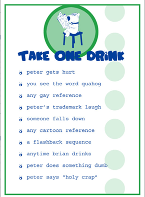 Family Guy, the Drinking Game