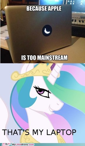 Celestia finds her laptop