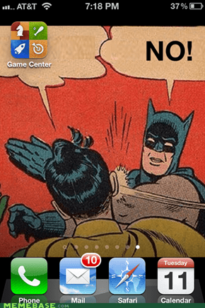 Wholly useless app, Batman!