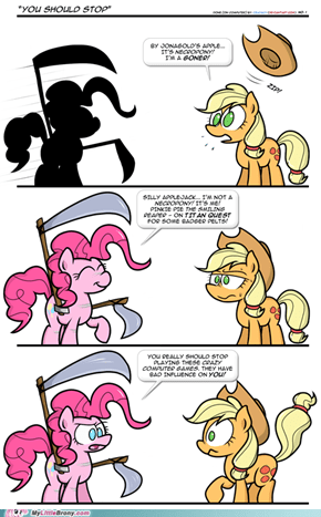 Stop playing those crazy computer games Applejack!