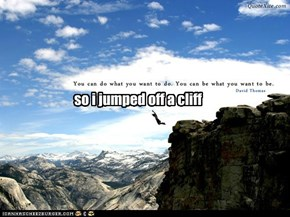 so i jumped off a cliff