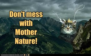 Don't mess with Mother Nature!