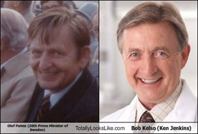 Olof Palme (26th Prime Minister of Sweden) Totally Looks Like Bob Kelso (Ken Jenkins)