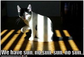 We have sun, no sun, sun, no sun..