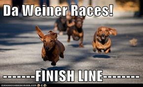 Da Weiner Races!  -------FINISH LINE--------