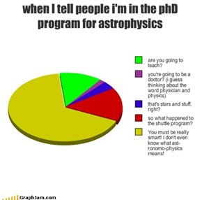 when I tell people i'm in the phD program for astrophysics