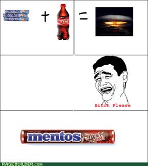 Mentos Cola