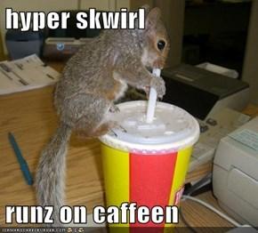 hyper skwirl  runz on caffeen