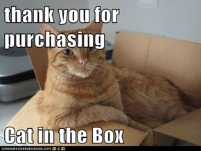 thank you for purchasing   Cat in the Box