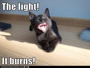 The light!  It burns!