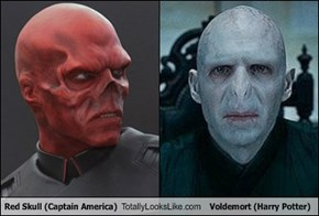 Red Skull (Captain America) Totally Looks Like Voldemort (Harry Potter)