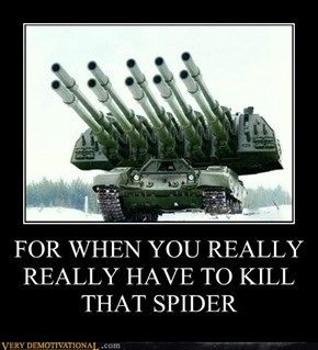 FOR WHEN YOU REALLY REALLY HAVE TO KILL THAT SPIDER