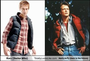 Rory (Doctor Who) Totally Looks Like Marty Mcfly (Back to the Future)