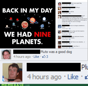 It's not a planet, it's a dog.