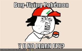 Bug-Flying Pokémon  Y U NO LEARN FLY?