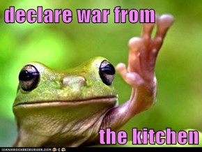 declare war from   the kitchen