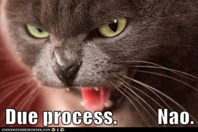 Due process.          Nao.