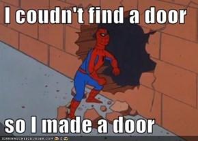 I coudn't find a door  so I made a door