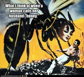 "What I think of when a woman calls her husband ""honey."""