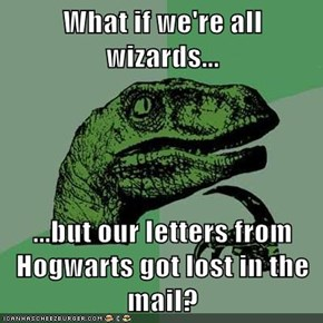 What if we're all wizards...  ...but our letters from Hogwarts got lost in the mail?