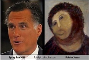 Spray Tan Mitt Totally Looks Like Potato Jesus