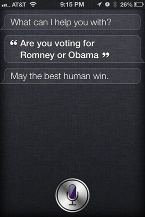 Siri Isn't Concerned With Your Mortal Political Issues
