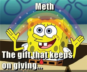 Meth  The gift that keeps              on giving...