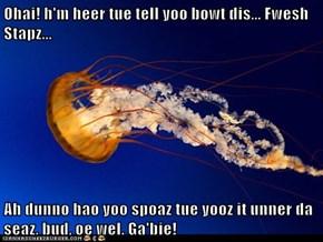 Ohai! h'm heer tue tell yoo bowt dis... Fwesh Stapz...  Ah dunno hao yoo spoaz tue yooz it unner da seaz, bud, oe wel. Ga'bie!