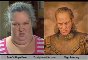 June's Bingo Face Totally Looks Like Vigo Painting