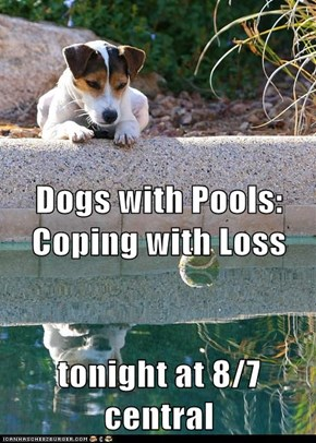Dogs with Pools: Coping with Loss tonight at 8/7 central