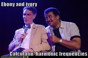 Ebony and ivory  Calculatin' harmonic frequencies