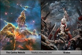 The Carina Nebula Totally Looks Like Kratos
