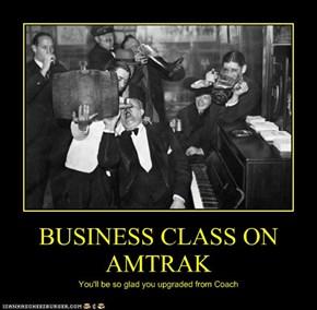 BUSINESS CLASS ON AMTRAK
