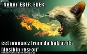 """""""Neber, EBER, EBER,  eet mousiez frum da bak uv da Mesikin resron"""""""