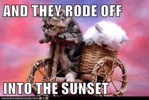AND THEY RODE OFF  INTO THE SUNSET