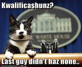 Kwalificashunz?  Last guy didn't haz none..