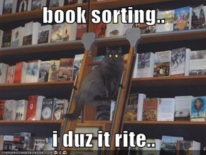 book sorting..  i duz it rite..