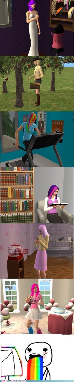Sims 2 mane 6