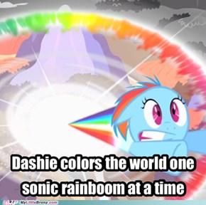 Raindow Dash the painter