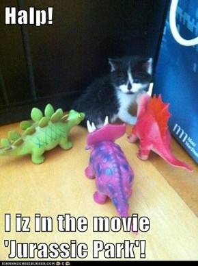Halp!  I iz in the movie 'Jurassic Park'!