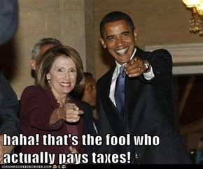 haha! that's the fool who actually pays taxes!