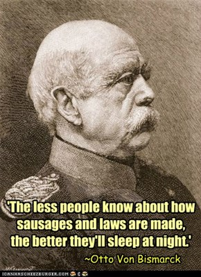 I'll. Never. Eat. Sausage. Again.