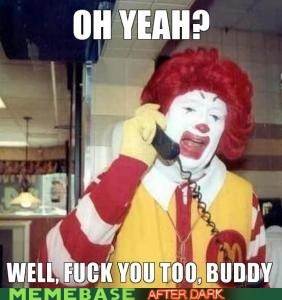 You go Ronald!