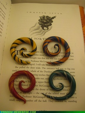 Harry potter house spirals