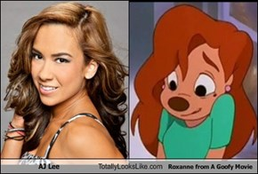 AJ Lee Totally Looks Like Roxanne from A Goofy Movie