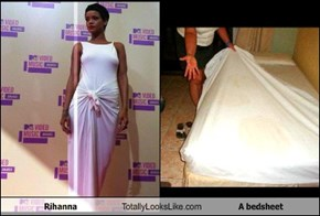 Rihanna Totally Looks Like A bedsheet